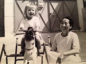 A joyful Carla and her loving grandma